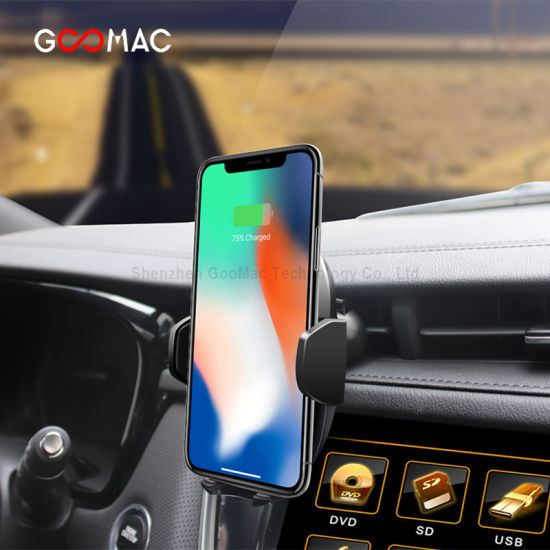 Goomac Mobile Holder Fast Wireless Charging Wireless Car Charger with Fan