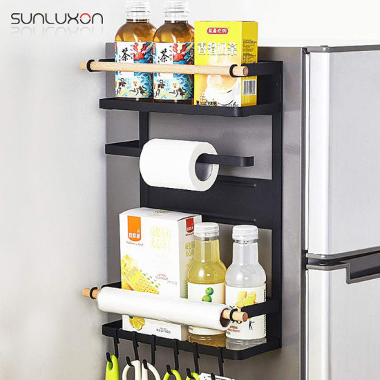 Kitchen Home Mounted Utensil Organizer Spice Holder Magnetic Refrigerator Rack pictures & photos