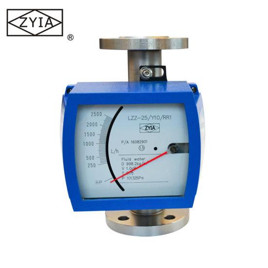 Chemical Liquid Caustic Soda Metal Tube Float Rotameter Flowmeter