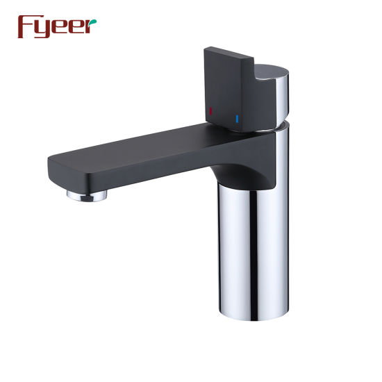 Fyeer 2019 New Chrome&Black Brass Basin Faucet