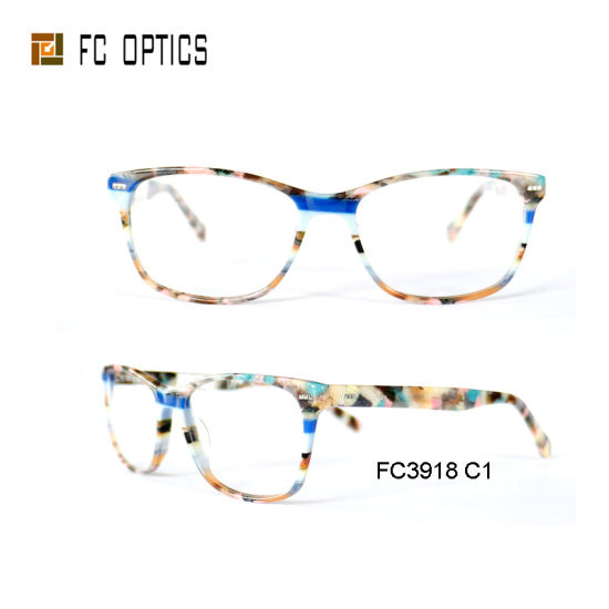 Newest Style Colorful Stone Eyewear Acetate Glasses Optical Frame pictures & photos