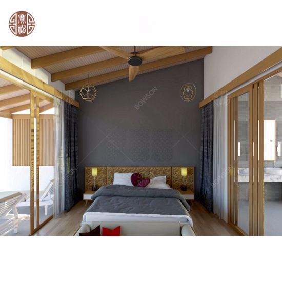 Maldives Hotel Project with Resort Style Hotel Furniture Bedroom Set