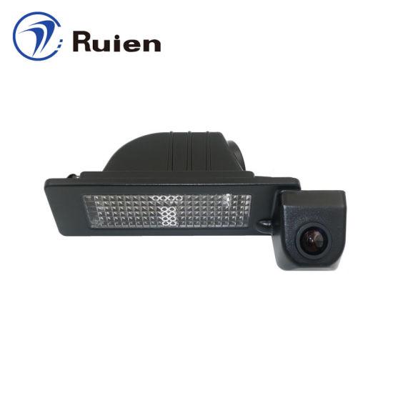 HD Reversing Camera License Plate Light Camera with Night Vision for Shanghai Skoda Rapid, VW Santana