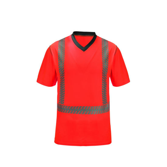 Hi Viz PPE Safety Work Wear Uniform Customized Security T-Shirt