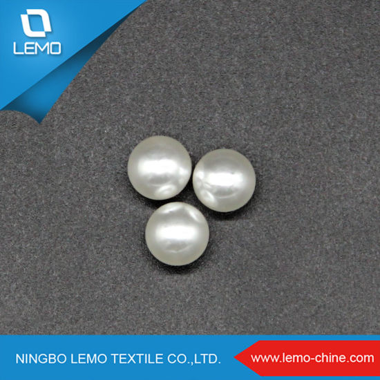 Silvery Without Hole Spherical 9mm ABS Pearl Beads for Clothes