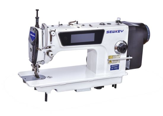 Sk-5490-7 Variabie Top and Bottom Feed Computerized Lockstitch Sewing Machine