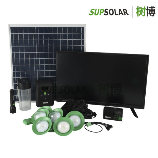 40W off-Grid Renewable Solar Energy Home System for Remote Districts