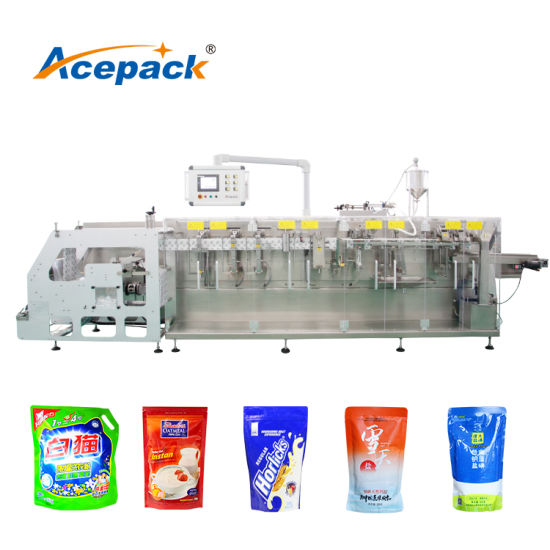 Horizontal 250g Solid Granule Food Bag Packaging Premade Pouch Packing Machine for Candy, Snacks