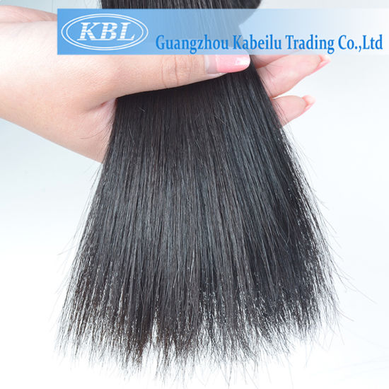 Cheap Price 5A Brazilian Jet Black Human Hair pictures & photos