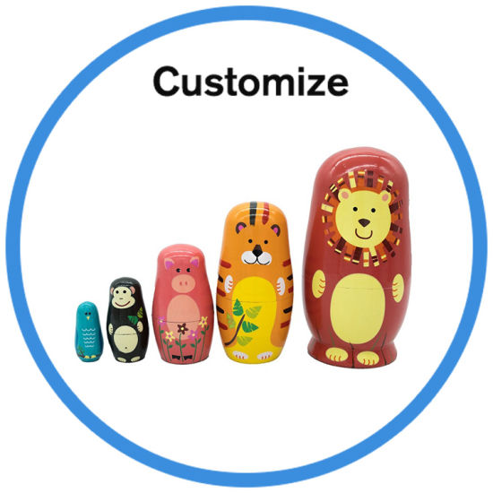 Custom Classic Ceramic Wooden Russian Matryoshka Nesting Doll pictures & photos