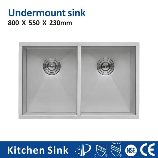 South Africa R10 2 3mm 10 Inch Depth 60/40 Aquacubic Under Counter 1 2 3 Basin SUS304 Ss201 Bench Worktable Sink for House Handicraft Glossy Kitchen Sink