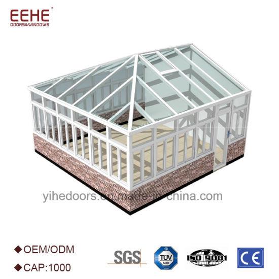 China Portable White Aluminium Frame Sunroom with Tempered Glass ...