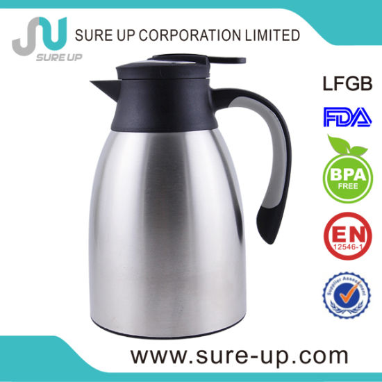 china special design cap with ss decoration vacuum jug jsut