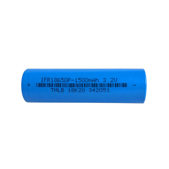 Wholesale Rechargeable LiFePO4 18650-1500mAh Battery Cell