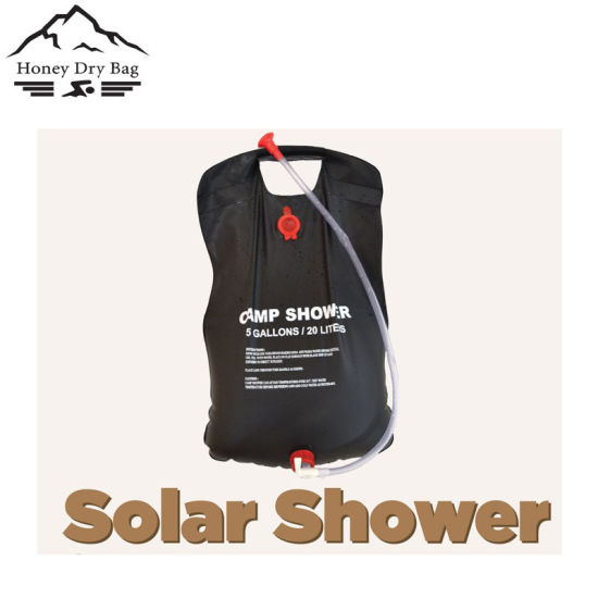 20l Solar Pvc Water Shower Bag Camping Hanging Outdoor Beach