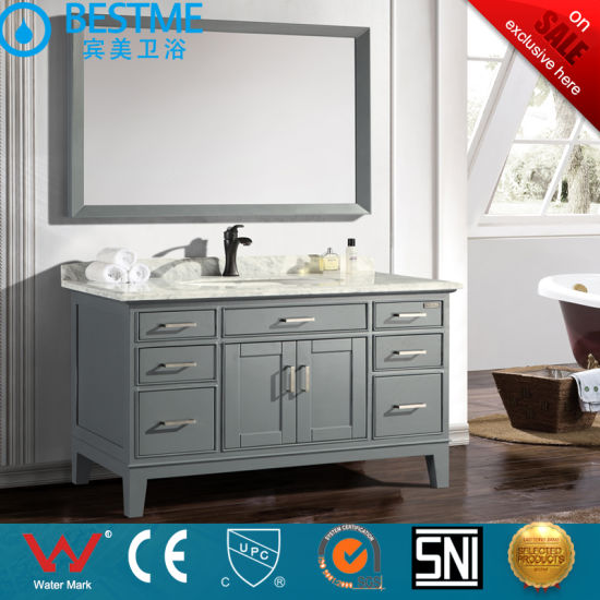 Bathroom Solid Wood furniture Thailand Oak Material by-X7086 pictures & photos