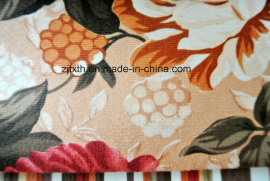 Nylon Tricot Knit Fabric with Printing Flower pictures & photos