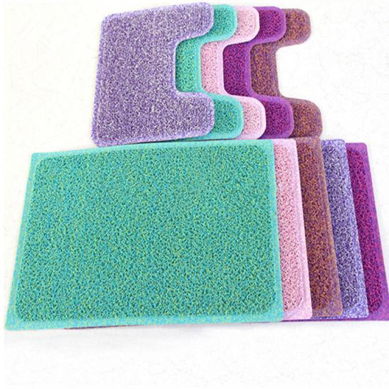Carpet Rug Pvc Rubber Bath Mat Set