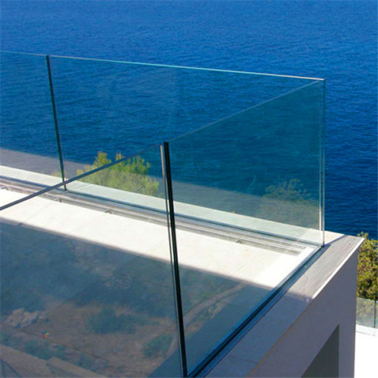 China Glass Balustrade With Steel Base Channel U Channel Glass