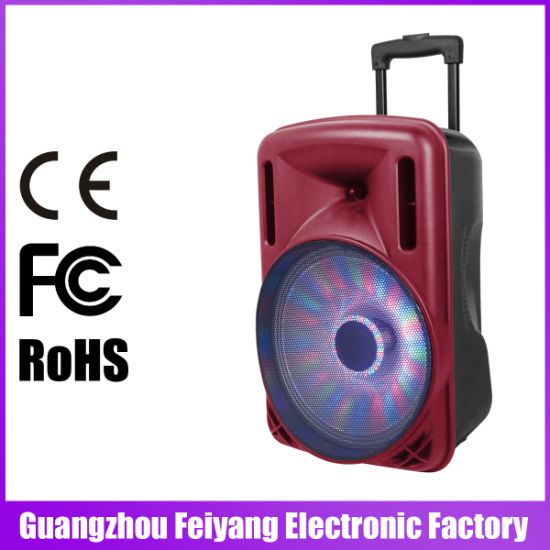 12 Inch Trolley Speaker Box with Big Power Bank Bluetooth FM F12-1 pictures & photos