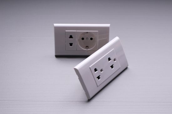 China Us Standard Decorative Electrical Wall Outlet 15A White Wall ...