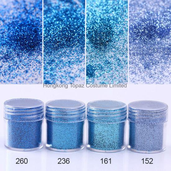 China Blue Color Nail Glitter Powder Sequins Shinning Colorful Nail