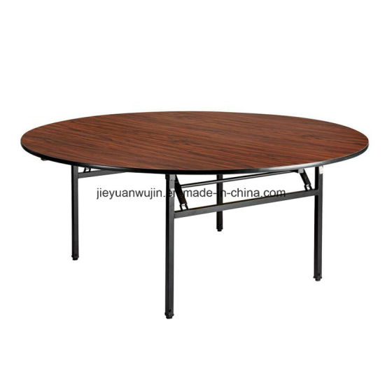 Hotel Restaurant Fireproof Board Round Folding Banquet Table