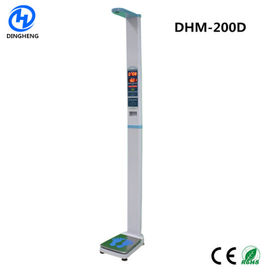 Dhm-200d 150kg Electronic Body Fat Balance Scale Body Weight Scale BMI Weighing Height Scaler