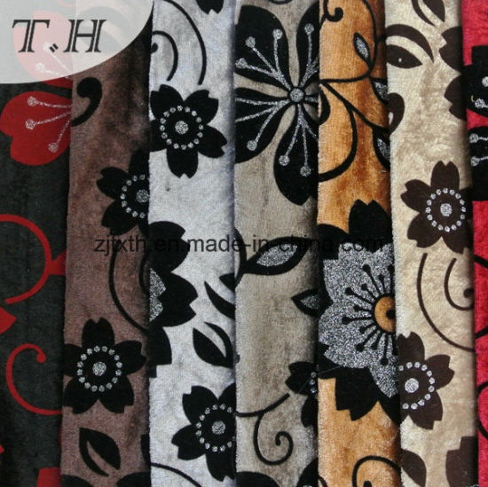 100% Polyester Flocked Fabric New Design pictures & photos
