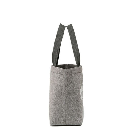 Custom Printed Company Logo Recycle Wool Felt Fabric Reusable Shopping Bags  Gift Boutique Eco Bags Ads