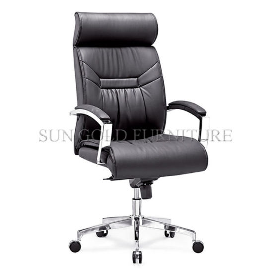 Office Furniture High Black Leather Office Chair Dimensions (SZ-OCE163) pictures & photos