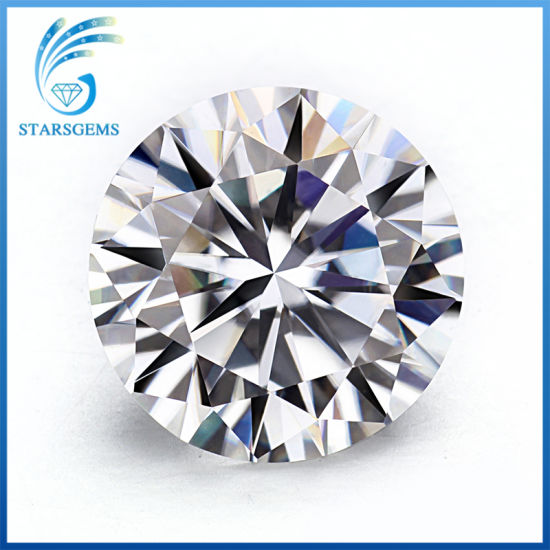6.5mm 1CT Round H&a Cut Gh Color Moissanite Diamond in Stock for Sale pictures & photos