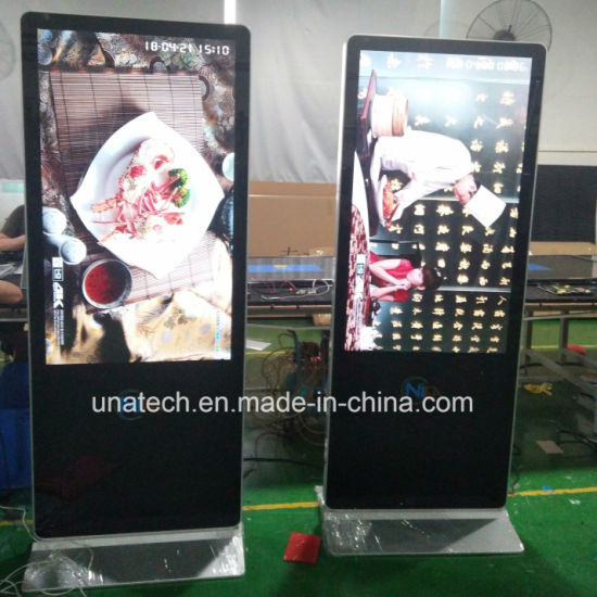 32, 42, 49, 55, 65inch Indoor Advertising LED Media Player Aluminum Frame LCD Sign Screen Digital Display