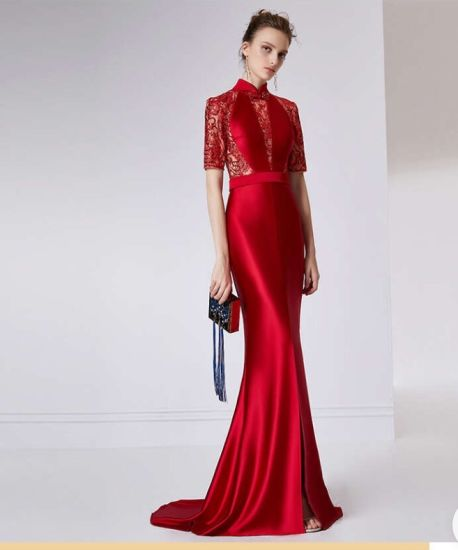 Evening Dress High-End Custom Long Pendant Ladies Evening Dress