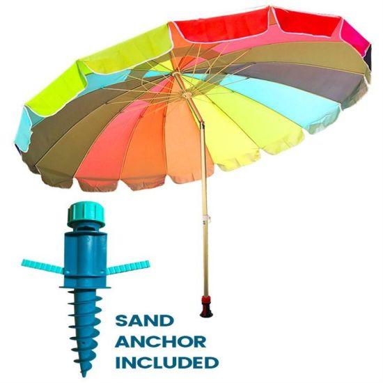 Outdoor Beach Umbrella Aluminium Anchor Promotion Umbrella