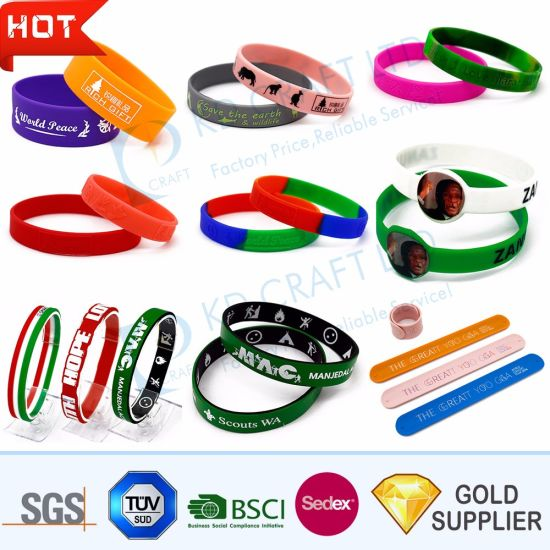 Hot Sale Silicone Rubber Wrist Band Debossed Segment Fashion RFID Mosquito Repellent Smart Silicon USB Sport Bracelet Printing Logo From China