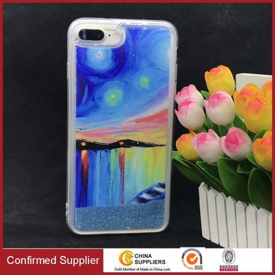 Customized Pattern Personlized Design Bling Liquid Glitter Phone Case