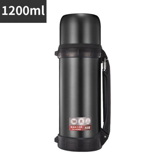 1200ml Thermos Cup Household Stainless Steel Insulation Pot Travel Pot Car Mug Outdoor Lightweight Mug