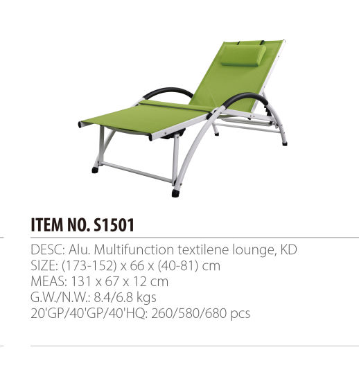 Beach Chair Patio Chaise Lounge Outdoor Chaise Lounge Garden Furniture pictures & photos