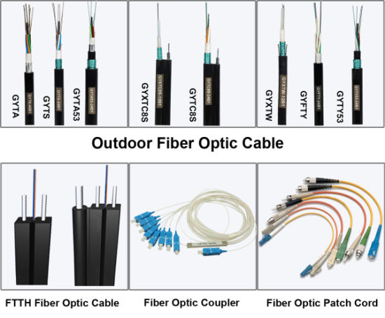 High Quality Non-Armored Optical Fiber Cable GYFTY pictures & photos
