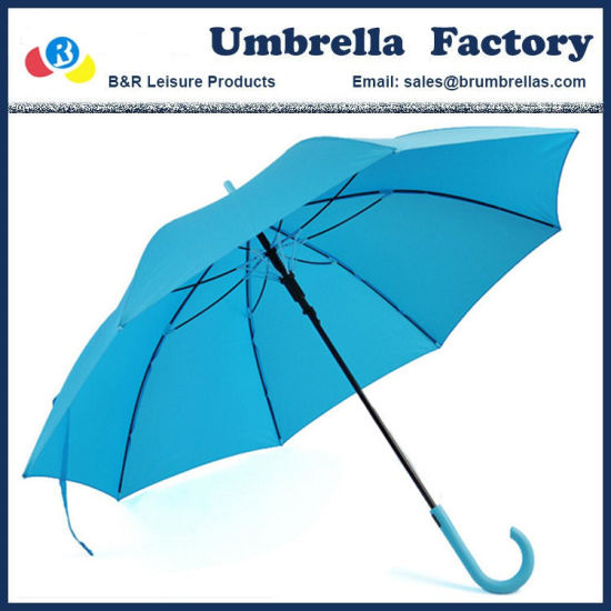 Candy Color Straight Umbrella with Shoulder Bag Auto