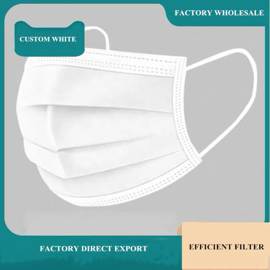 Foctory Wholesale Blue or Color Earloop 3 Ply Mask Monwoven Mask Protective Face Mask Disposable Mask Dust Mask Disposable Mask Particulate Protective Mask