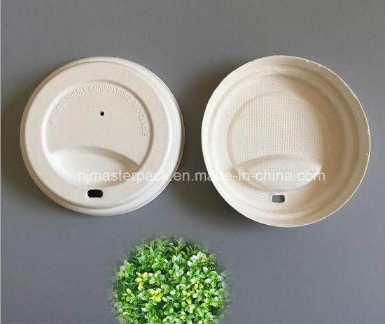 dedf70ce647 Biodegradable Sugarcane PLA Coffee Cup Cover Lids