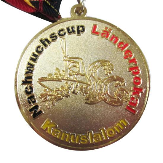 Souvenir Use Promotion Gift Custom Round Nachwuchscup Gold Medal (100)