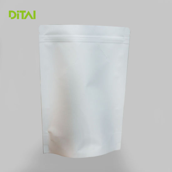China White Kraft Paper Bag And Stand Up Pouch With Window China Ziplock Pouch Plastic Packaging