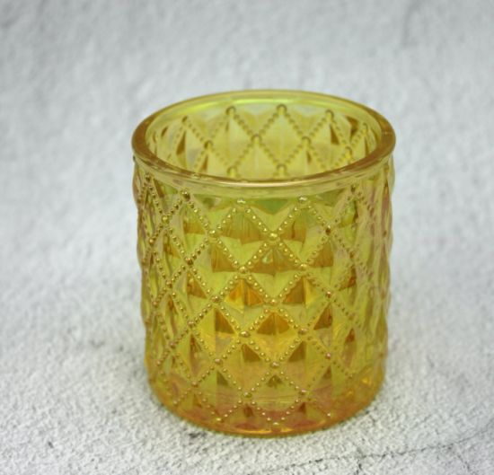 Color Embossed Candle Holder for christmas Gift pictures & photos