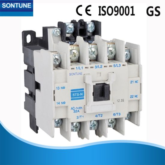 Fixed 2 Phase Magnetic AC Contactor IEC 60947 Standard 12A Current 20 in
