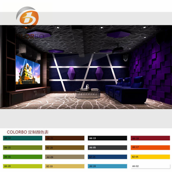 Home Theater Wallpaperfire Resistant and Sound Absorption Polyester Fiber 3D Product. pictures & photos