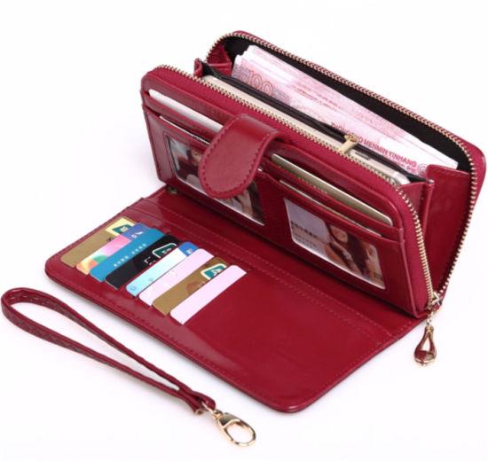 China Large Sales Beautiful Women Red Pu Wallet Purse China Purse And Handbag Price