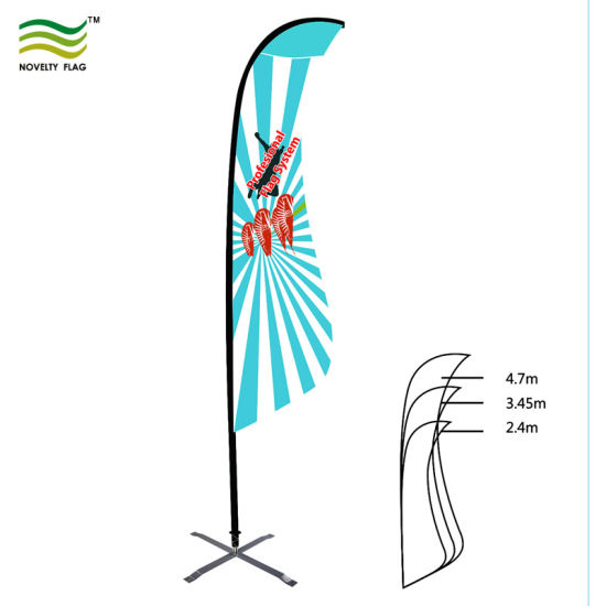 Single or Double Sided Flying Beach Blad Bow Feather Flags pictures & photos